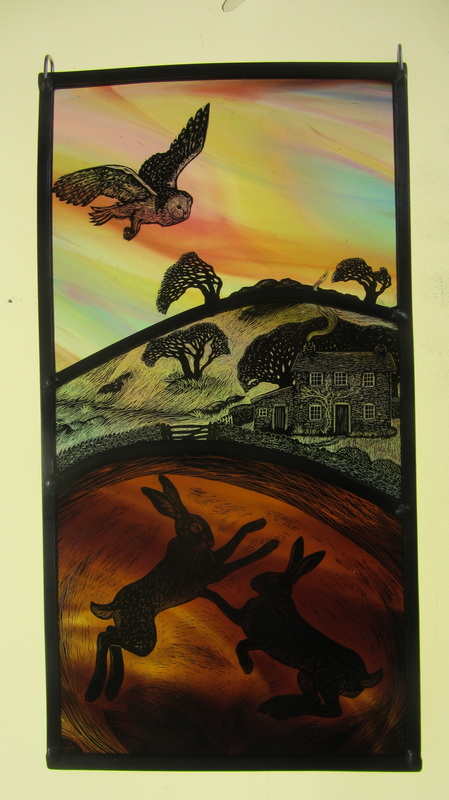Twilight over the Moor, Boxing Hares, Tamsin Abbott