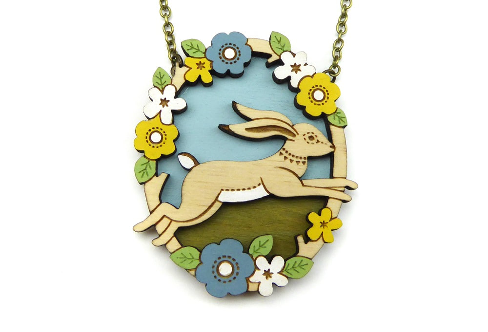 Layla Amber - Hare Necklace