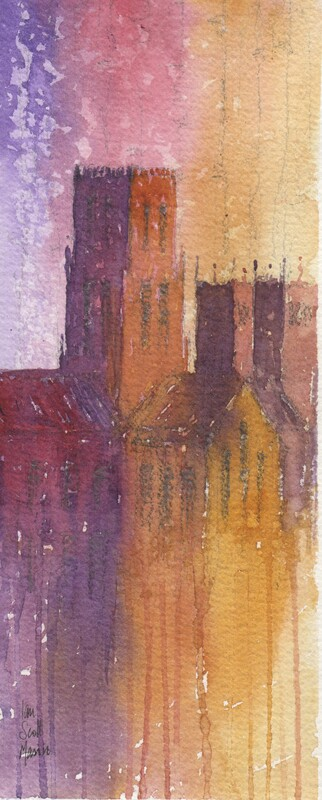 Durham Cathedral Ian Scott Massie watercolour £235