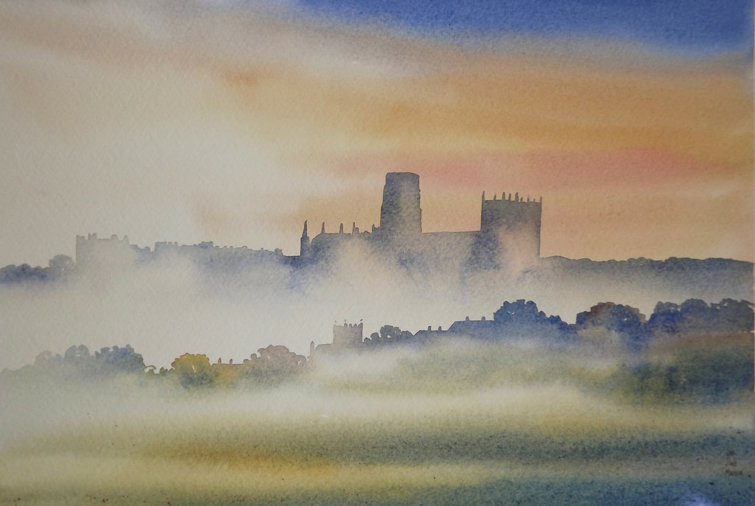Misty Day, Durham, Ian Scott Massie Watercolour	£495
