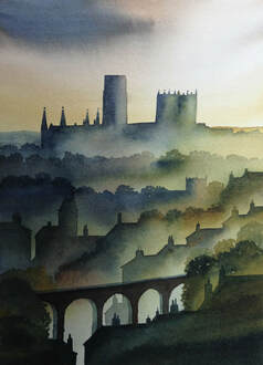 The Viaduct, Durham Ian Scott Massie Watercolour £295