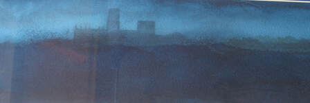 Durham, Nightfall Ian Scott Massie watercolour	£295
