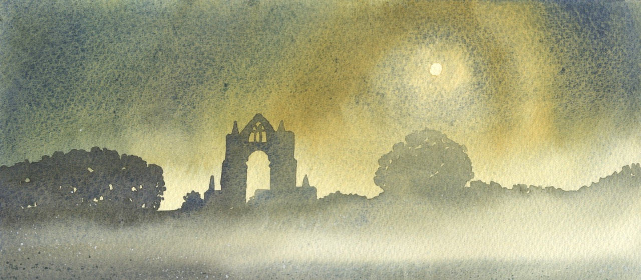 Ian Scott Massie - Gisborough Priory by Moonlight